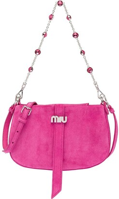 Miu Miu Embellished-Strap Shoulder Bag