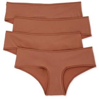 Undies.com Women's Classic Microfiber Hipster Panties, 4-Pack