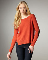 Elbow-Patch Top, Chili