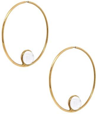 Cyril Studio Large Halo Hoop Yellow Gold Earrings