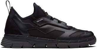 Prada Mesh Panel Low-Top Sneakers