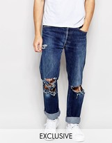 Reclaimed Vintage Levis 501 Jeans With Knee Rips