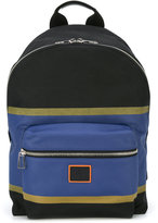 Paul Smith zipped backpack - men - Leather/Polyester - One Size