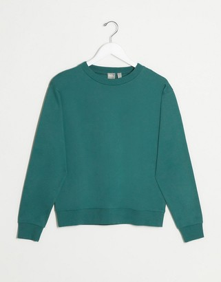 ASOS DESIGN ultimate organic cotton sweatshirt in soft teal