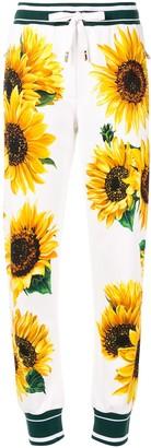 Dolce & Gabbana Sunflower Print Trousers