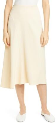 Vince Asymmetrical Seam Midi Skirt