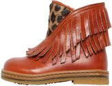 Ocra Fringed Leather Boots