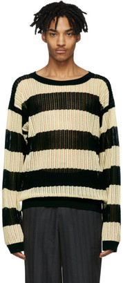 Off-White BED J.W. FORD Black and Mesh Sweater