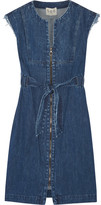 Sea Frayed Denim Dress - Indigo