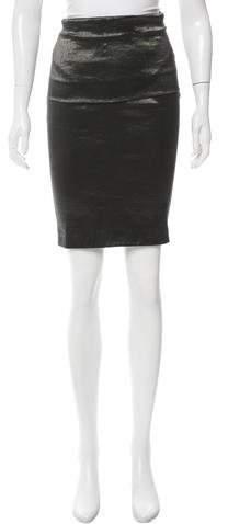 Donna Karan Metallic Knee-Length Skirt w/ Tags