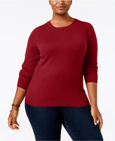 Charter Club Plus Size Cashmere Crew-Neck Sweater, Only at Macy's