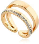 Antonini Siracusa Double Band Diamond Midi Ring