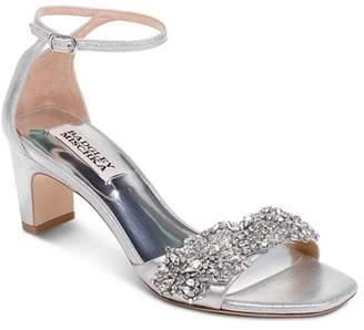 Badgley Mischka Women's Alison Embellished Block Heel Sandals