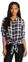 DKNY Women's Flannel Plaid Shirt