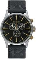 Nixon Sentry Chronograph Watch Black/brass