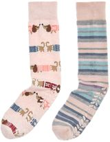 totes Twin sausage dog slipper sock pack