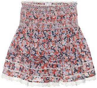 Poupette St Barth Exclusive to Mytheresa Galia floral cotton miniskirt