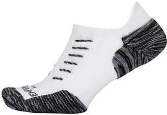 Thorlos Experia Tiger Paw Tab Single Pair (White/Grey) Crew Cut Socks Shoes
