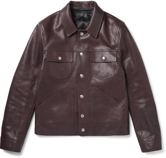 Tom Ford Slim-Fit Leather Trucker Jacket