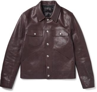 Tom Ford Slim-Fit Leather Trucker Jacket - Men - Burgundy