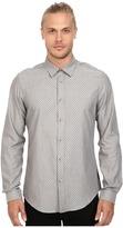 Ben Sherman Long Sleeve Herringbone Spot Woven Shirt