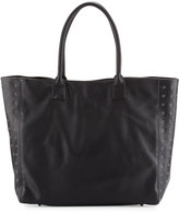 Neiman Marcus Large Grommet Tote Bag, Black