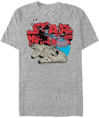 Fifth Sun Logo Explosion Mens Crew Neck Short Sleeve Star Wars Graphic T-Shirt