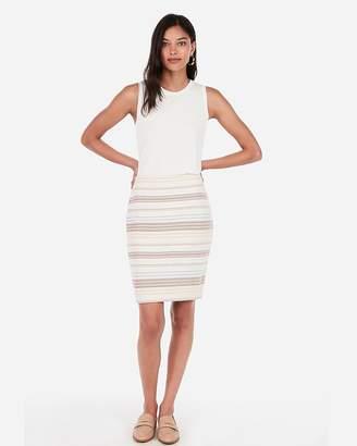 Express High Waisted Striped Jacquard Pencil Skirt