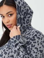 V By Very Curve Grey Animal Hoodie- Animal