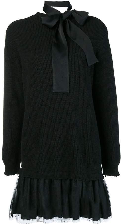 RED Valentino bow tie sweater dress
