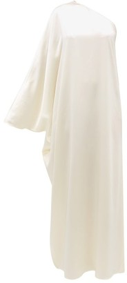 LA COLLECTION Maui One-shoulder Silk-charmeuse Gown - Ivory