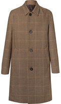 Wooyoungmi Prince Of Wales Checked Wool Overcoat - Brown