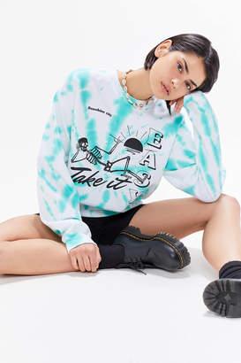 BDG Take It Easy Tie-Dye Sweatshirt