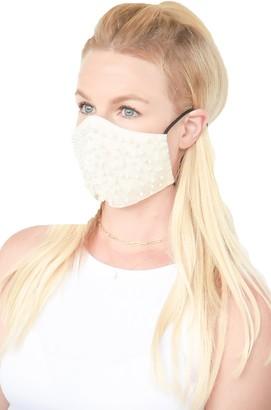 Ruby Grey Embellished Adjustable Contoured Cotton Face Mask