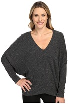 Heather Long Sleeve Slouchy Wedge Top