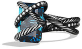 David Yurman Cable Wrap Ring with Hampton Blue Topaz and Diamonds