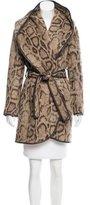 Diane von Furstenberg Leather-Trimmed Asymmetrical Jacket