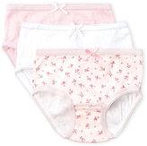 Rene Rofe Toddler Girls) 3-Pack Pointelle Briefs