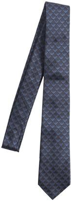 Emporio Armani All Over Logo Brocade Silk Tie