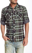 Cult of Individuality Plaid Long Sleeve Regular Fit Shirt