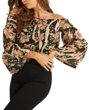 GUESS Silia Floral-Print Crop Top
