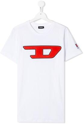 Diesel TEEN logo patch T-shirt