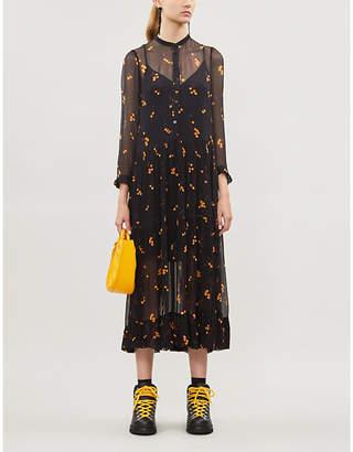 Baum und Pferdgarten Alexondra cherry-pattern crepe midi dress