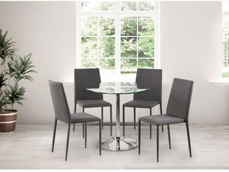 Julian Bowen Set Of Kudos Table & 4 Jazz Grey Chairs