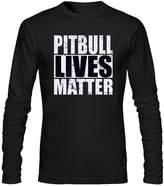 jianwu33 PITBULL LIVES MATTER Women's Long Sleeve Cotton Casual Crewneck T-Shirt