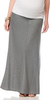 Motherhood Fold Over Belly Chevron Stripe Maternity Skirt