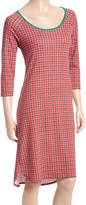 Red & Green Plaid Nightgown - Women
