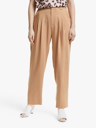 Mother of Pearl Tencel Peg Leg Trousers, Camel