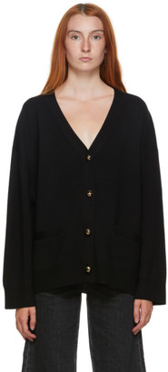 Totême Black Wool Vinci Cardigan