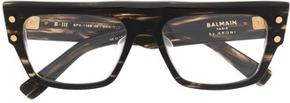 Balmain Eyewear B-III rectangular frame glasses